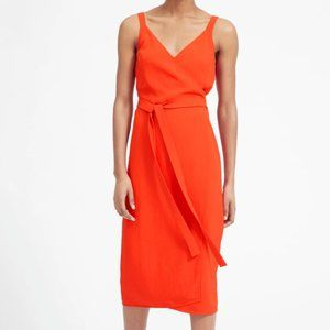 NWT Everlane Japanese GoWeave Wrap Dress Poppy 14